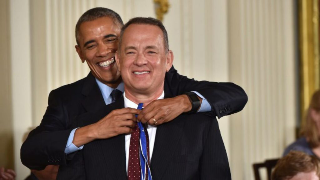 Barack Obama y Tom Hanks